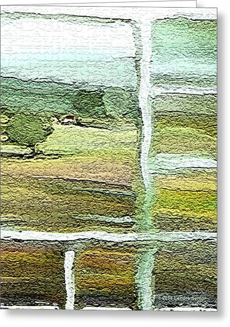 Home Alone As A  Patchwork Quilt Greeting Card by Lenore Senior