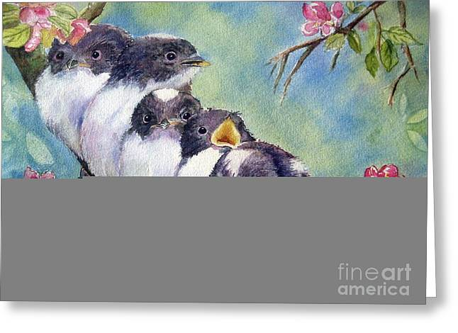 Cherry Blossoms Paintings Greeting Cards - Home Alone Greeting Card by Patricia Pushaw