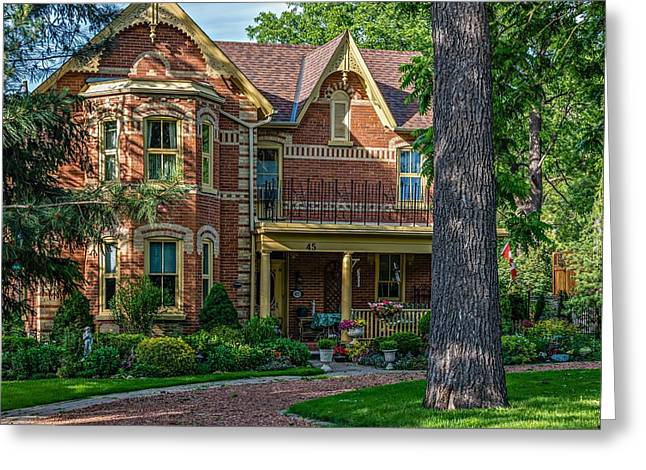 Victorian Home Greeting Cards - Home and Garden Greeting Card by Steve Harrington