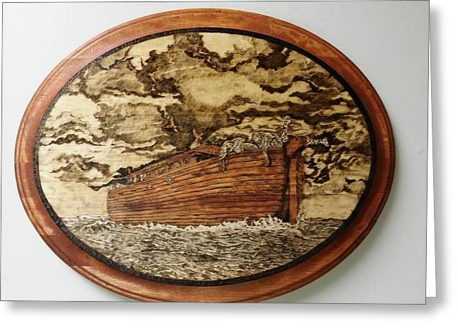 Religious Pyrography Greeting Cards - Home at Last  Greeting Card by Buddy Harris