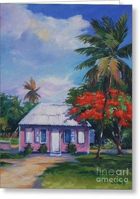 Tall Tree Greeting Cards - Home at Tall Tree   Savannah Greeting Card by John Clark