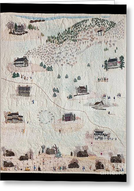 American Tapestries - Textiles Greeting Cards - Home at Valley Forge Greeting Card by Lois Charles