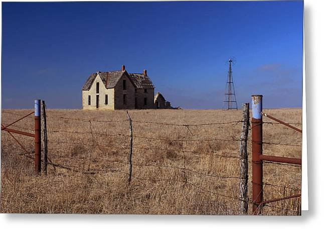 Sante Fe Trail Greeting Cards - Home Behind the Gate Greeting Card by Christopher McKenzie