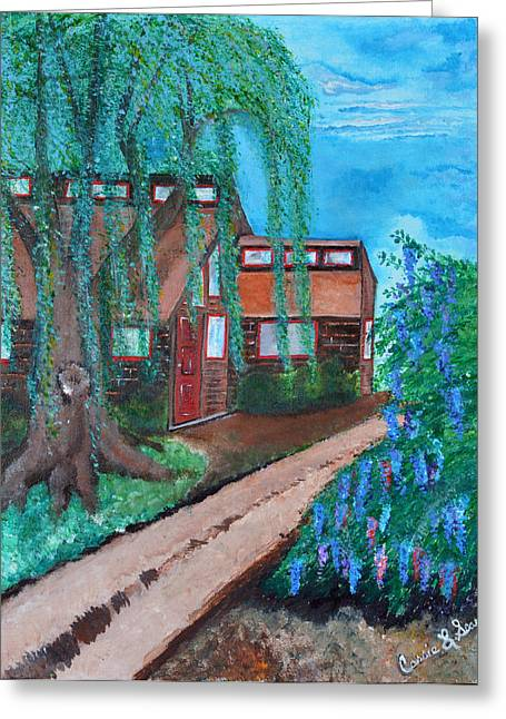 Art-by-cassie Sears Greeting Cards - Home Greeting Card by Cassie Sears