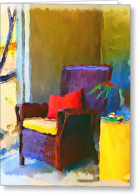Interior Still Life Digital Art Greeting Cards - Home Chairs Greeting Card by Yury Malkov