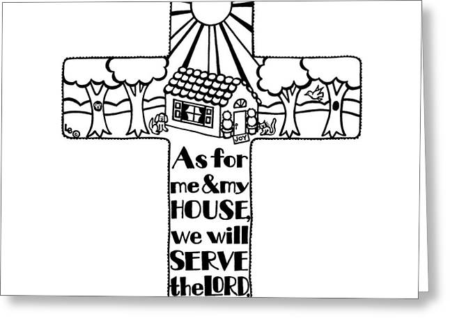 Pen And Paper Greeting Cards - Home Cross Greeting Card by Leigh Eldred