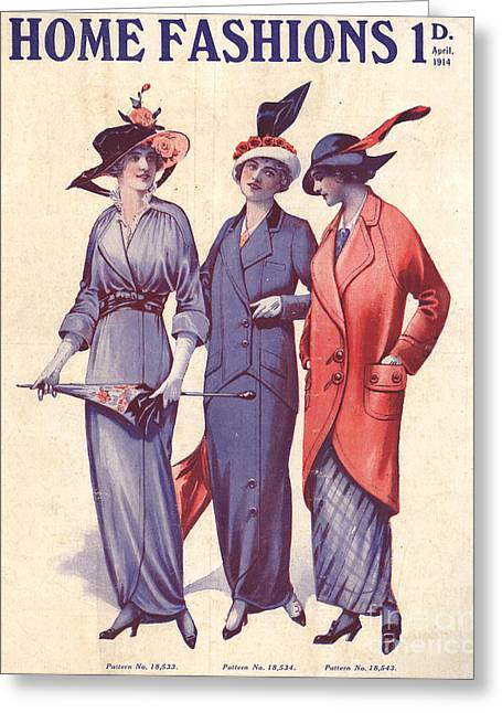 Home Fashion  1917 1910s Uk Womens Greeting Card by The Advertising Archives