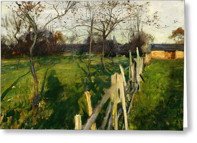 Home Fields Greeting Card by John Singer Sargent