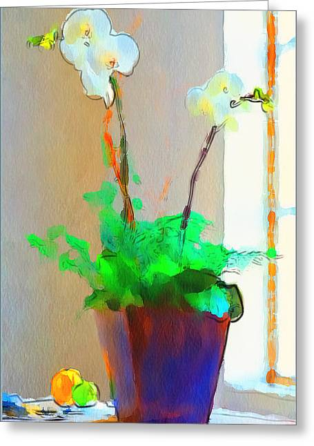 Interior Still Life Digital Art Greeting Cards - Home Flowers 1 Greeting Card by Yury Malkov