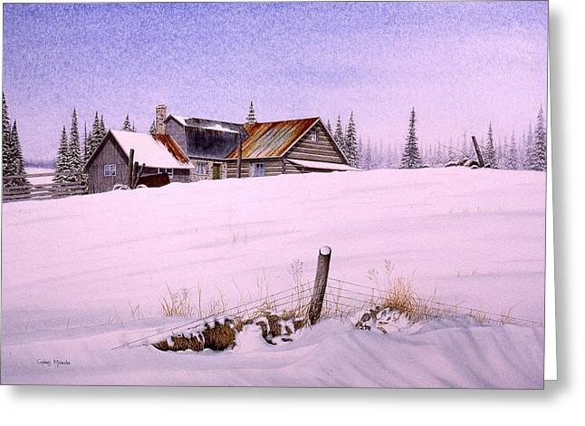 Cards Greeting Cards - Home for Christmas Greeting Card by Conrad Mieschke