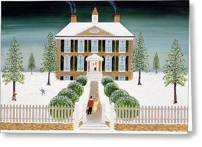 Home For Christmas Greeting Card by Mark Baring
