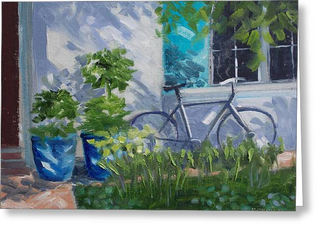 Dappled Light Greeting Cards - Home For Lunch  Villafranche Greeting Card by Robert Rohrich