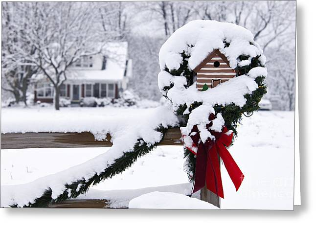 Indiana Christmas Greeting Cards - Home for the Holidays - D008346 Greeting Card by Daniel Dempster