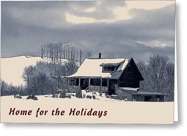 Wnc Greeting Cards - Home for the Holidays Greeting Card by John Haldane