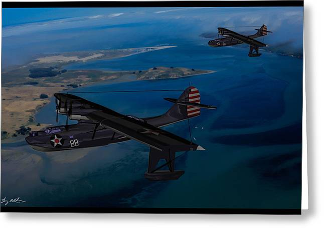 Pby Catalina Greeting Cards - Home from Patrol Greeting Card by Tommy Anderson