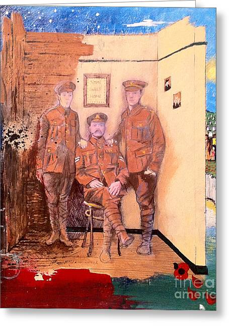Ww1 Greeting Cards - Home Front Room Greeting Card by Michelle Deyna-Hayward