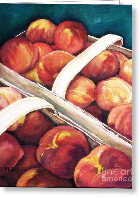 Arkansas Paintings Greeting Cards - Home Grown Peaches Greeting Card by MarLa Hoover