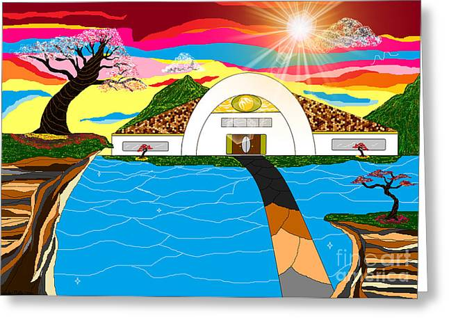 African-americans Greeting Cards - Home in Paradise Greeting Card by Lewanda Laboy