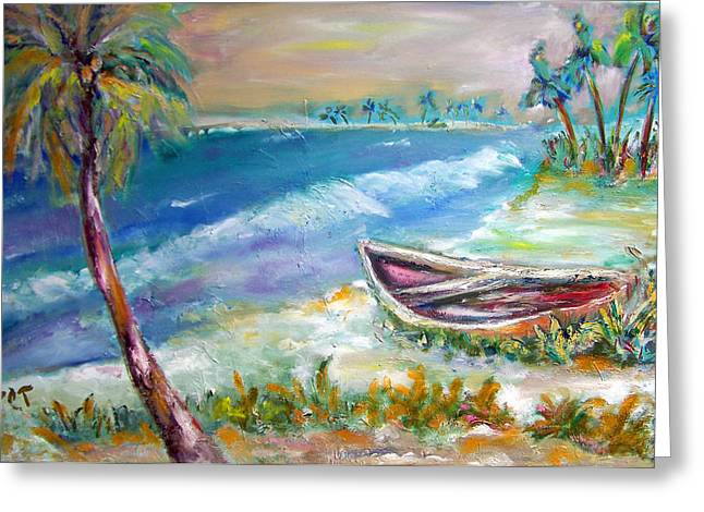 Patricia Taylor Greeting Cards - Home in Paradise Greeting Card by Patricia Taylor