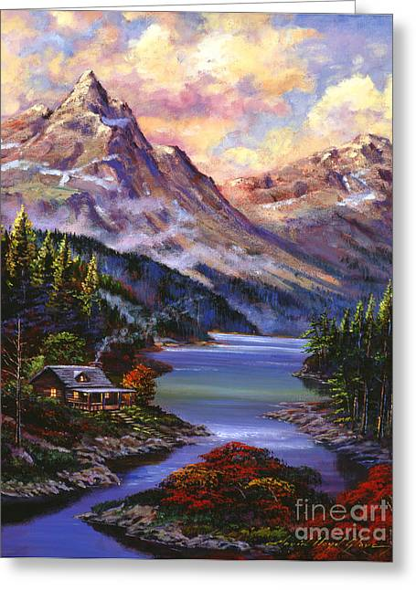 Hyper Greeting Cards - Home In The Mountains Greeting Card by David Lloyd Glover