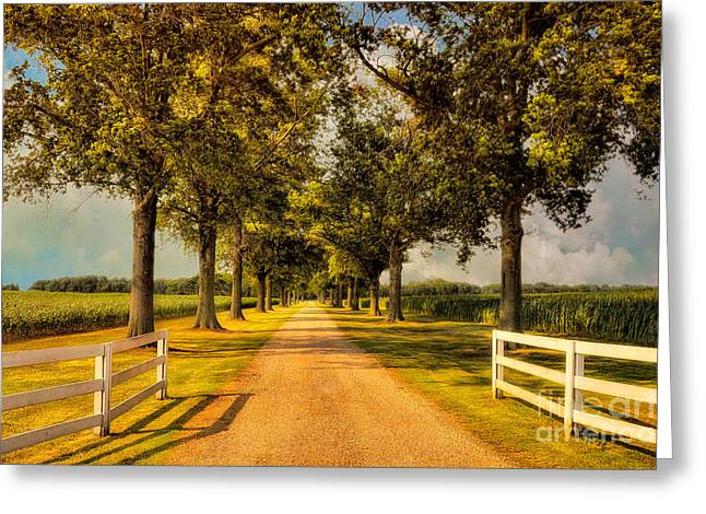 Entry-way Greeting Cards - Home In Time For Supper Greeting Card by Lois Bryan