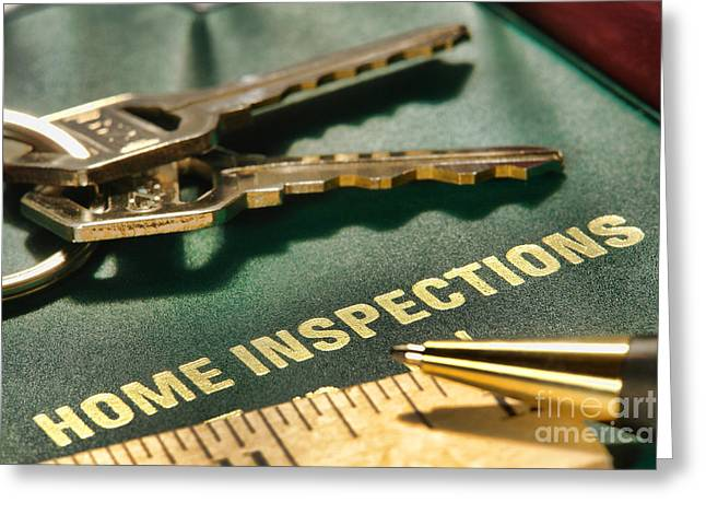 Purchase Greeting Cards - Home Inspections Greeting Card by Olivier Le Queinec