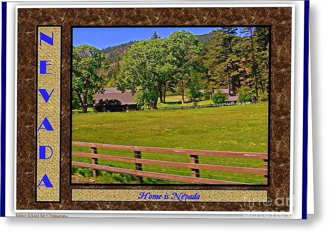 Print On Acrylic Greeting Cards - Home Is Nevada Greeting Card by Bobbee Rickard