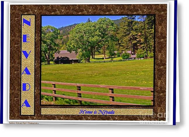 Home Is Nevada Greeting Card by Bobbee Rickard