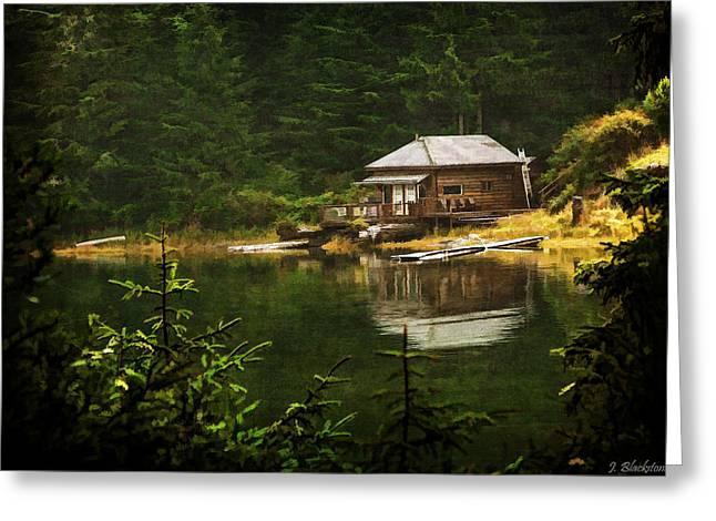 Log Cabins Greeting Cards - Home Is Where Greeting Card by Jordan Blackstone