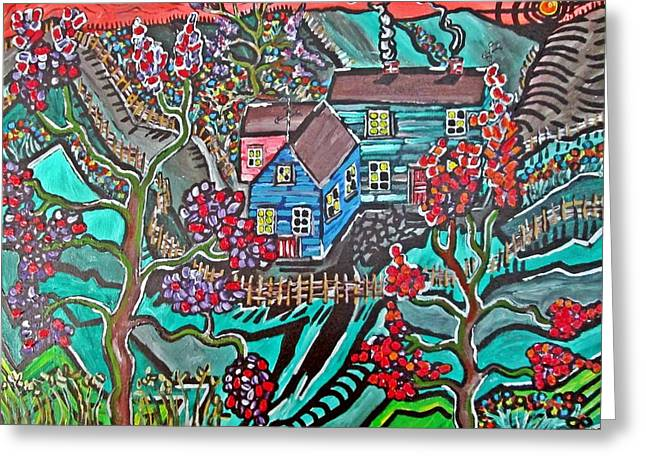 Acylic Painting Greeting Cards - Home Greeting Card by Matthew  James