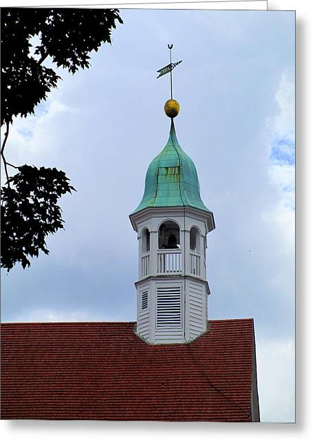 Moravian Greeting Cards - Home Moravian Church Steeple Greeting Card by Randall Weidner