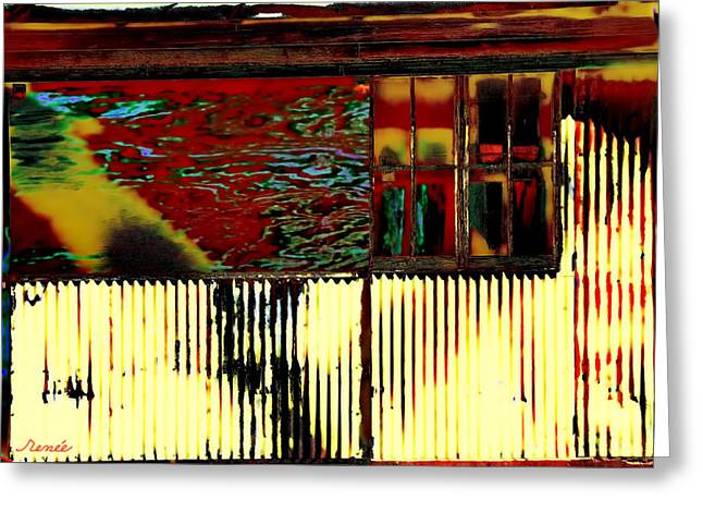 Shack Greeting Cards - Home No More- Abstract Greeting Card by Renee Anderson