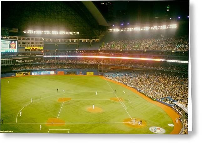 Center Field Greeting Cards - Home of the Blue Jays Greeting Card by Mountain Dreams