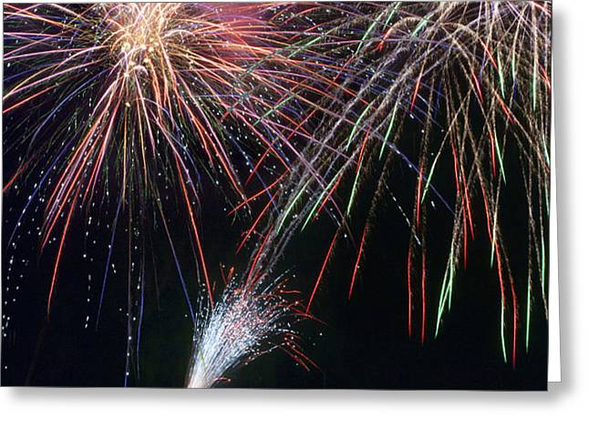 Home of the Brave Fireworks Greeting Card by Christina Rollo