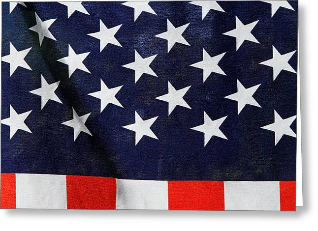 Flag Of Usa Greeting Cards - Home of The Brave Greeting Card by Juergen Roth