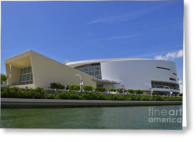 Dwayne Wade Greeting Cards - Home of the HEAT Daytime Greeting Card by Rick Bravo