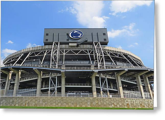 Nittany Lion Players Greeting Cards - Home Of The Lions Greeting Card by Dawn Gari