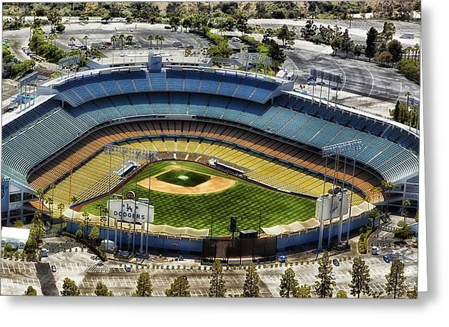 Dodger Stadium Greeting Cards - Home of the Los Angeles Dodgers Greeting Card by Mountain Dreams