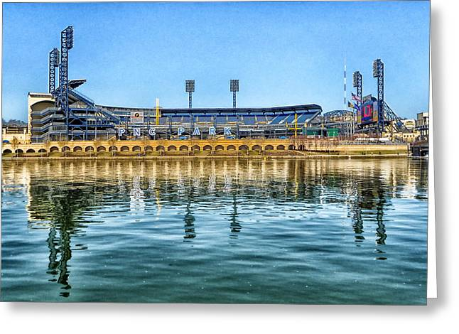 Pnc Park Greeting Cards - Home of the Pirates Greeting Card by Mountain Dreams