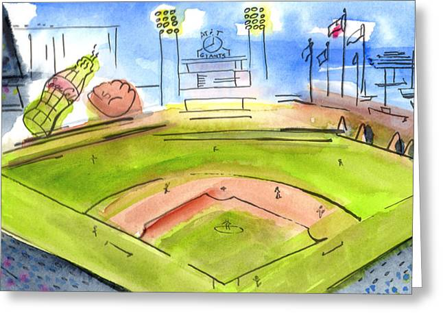 Home Of The San Francisco Giants Greeting Card by Jeanne Rehrig