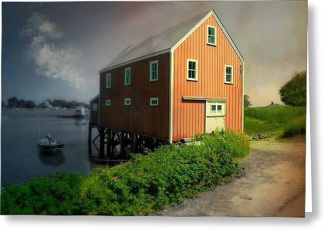 Maine Landscape Greeting Cards - Home on Cape Porpoise Greeting Card by Diana Angstadt