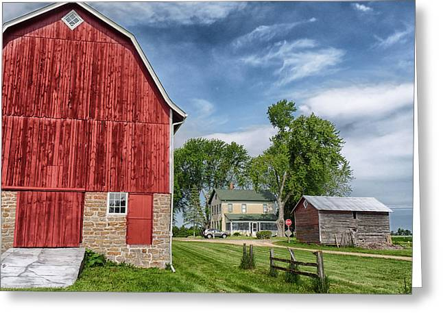Wisconsin Landscape Greeting Cards - Home on the Farm in Wisconsin Greeting Card by Mountain Dreams