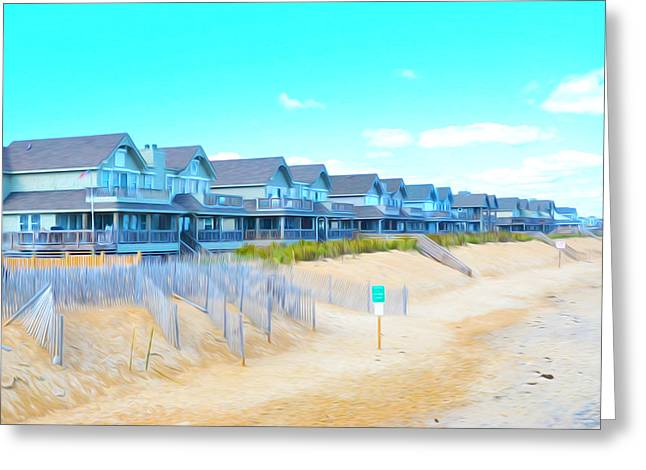 Condemned Paintings Greeting Cards - Home on the Outer Banks in Nags Head North Carolina Greeting Card by Lanjee Chee