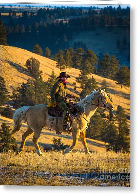 Folks Humans Greeting Cards - Home on the Range Greeting Card by Inge Johnsson