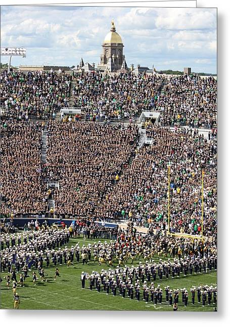 Notre Dame Greeting Cards - Home Opener 2012 Greeting Card by Michael Cressy