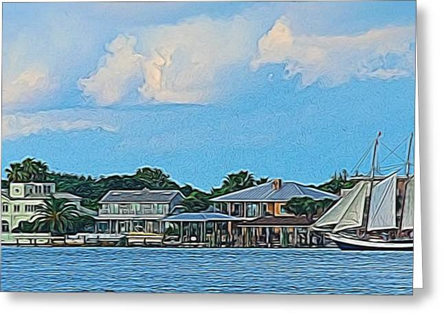 Docked Sailboat Greeting Cards - Home Port Greeting Card by Ken Everett