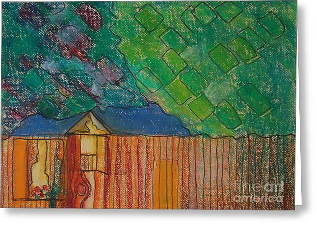 Teen Pastels Greeting Cards - Home Roxanne  Greeting Card by Judith Van Praag