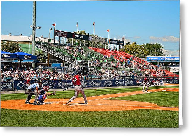 Fightin Phils Greeting Cards - Home Run or Struck Out Greeting Card by Michael Porchik