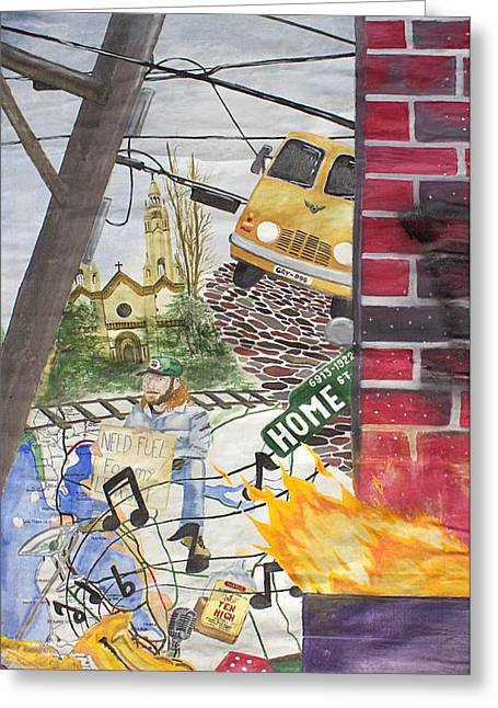Telephone Pools Greeting Cards - Home Street Home Greeting Card by Craig Kennedy