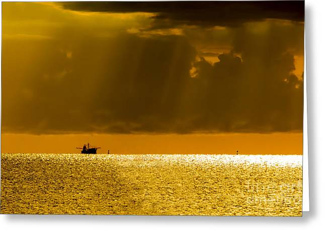 Calm Sea Greeting Cards - Home Stretch Greeting Card by Marvin Spates